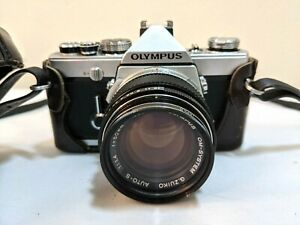 OLYMPUS OM-1 35mm SLR Film Camera with G.Zuiko 35mm 1:1.4 Lens with case