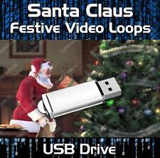 VIRTUAL SANTA CLAUS, FATHER CHRISTMAS PARTIES USB VIDEO DECORATION TV PROJECTOR