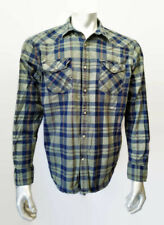 Lucky Brand Men's Large Classic Fit Cotton Long Sleeve Pearl Snap Western Shirt