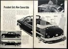 President Truman's Convertible 1950 pictorial 1949 Lincoln Cosmopolitan