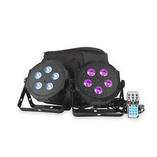 American DJ VPar Pak RGBA LED Par Can Uplighter Lighting Kit DJ Disco inc case