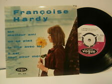 """françoise hardy""""ton meilleur ami""""ep7""""or.fr.vogue:epl8048.biem de1962 languette."""