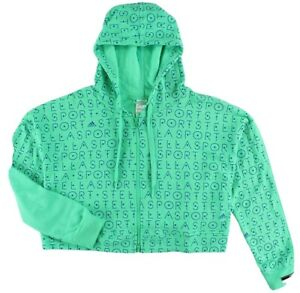 ADIDAS STELLA MCCARTNEY STELLASPORT FULL ZIP LOGO HOODIE  ~SIZE medium~ #AH8847