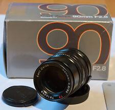 Carl Zeiss Sonnar 1:2,8 / 90mm T* Contax G G90 Black Schwarz wie neu mit OVP