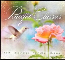 PEACEFUL CLASSICS (CD, Bach, Beethoven, Pachelbel, Debussy, 14 Songs) - NEW