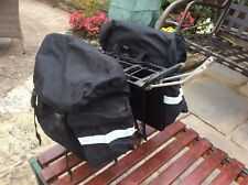 Double Cycle Pannier Bags and Rear Bicycle Rack
