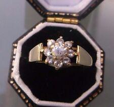 Donna Anello Oro 9ct Elegante CZ Ring Taglia o marchiato peso 1.7g