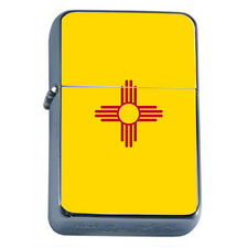 New Mexico Flag Flip Top Oil Lighter Case Included Cigarette Smoking Windproof