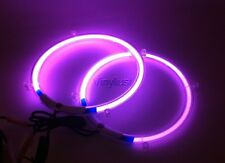 10 Inch Purple Neon Speaker Rings w Toggle Subwoofer Glow Car Lighting Kit (Set)