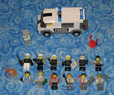 Lego City Police and Criminals Lot of 12 Individual Minifigures with Extras USA