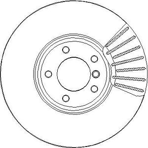 2x Brake Discs Pair Vented 348mm NBD1943 National Auto Parts Set 34116766871 New