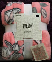Official DISNEY FLeece Throw Blanket Bambi Marie Mickey Chip Mermaid Primark NEW