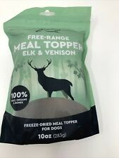 Free Range Raw Meal Topper for Dogs Mixer Elk Venison Freeze Dried 10 oz