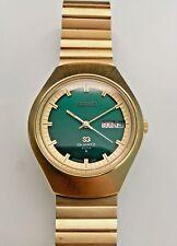 STUNNING VINTAGE 1974 SEIKO SQ 4004 0903-8009 DAY DATE GOLD TONE QUARTZ