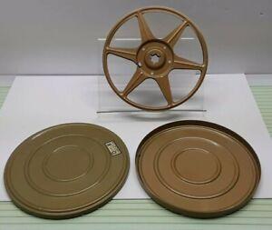 Vintage DUAL 8 Empty Metal 8mm Film Reel & Can 8/400