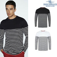 Front Row Crew Neck Long Sleeve Breton Striped T-Shirt (FR134)