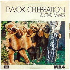 "DISCO VINILE 45 GIRI EWOK CELEBRATION & STAR WARS "" M.B.4. "" EMI 1983"