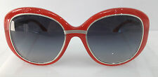 Chanel 6045-T Red 1431/S6 Round Plastic Eyeglasses Frame Italy 55-19-135 New