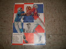 1961 University Of Massachusetts UMASS VS AIC Football Program Alumni Field