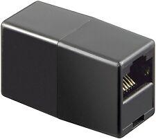 CAT6 Patchkupplung LAN Koppler Verbinder CAT.6 RJ45 Modular Kupplung schwarz