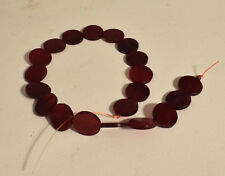 Beads Flat Disc Horn Beads Indonesian 20 Red Red Horn Beads