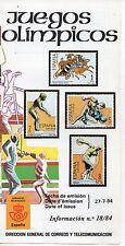 España Juegos Olimpicos año 1984 (DA-570)