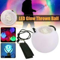 LED Mehrfarbig Leuchtende Poi Thrown Bälle Für Bauch Tanz Hand Stütze