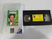 FLUBBER Y EL PROFESOR CHIFLADO ROBIN WILLIAMS VHS TAPE WALT DISNEY CASTELLANO