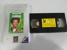 FLUBBER AND THE NUTTY PROFESSOR ROBIN WILLIAMS VHS TAPE WALT DISNEY SPANISH