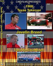 AMERICAN MOTORS  TRANS AM Countdown and Javilin Breed  3 racing FILMS  1 DVD