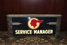 1940s Pontiac Service Manager Light up Sign by Ohio Adv. Display co. Dealership