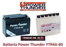 "Batteria POWER THUNDER YTR4A-BS 12V-2,3Ah ""MF"" per HONDA ZX Dio 50 dal 1994"