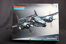 YE049 MONOGRAM 1/48 maquette avion 7546 Black Widow P-61 130 Pièces P61 Skill 2