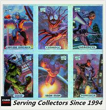 1994 Marvel Masterpieces Silver Holofoil Card Full Set (10)-Rare & Value!