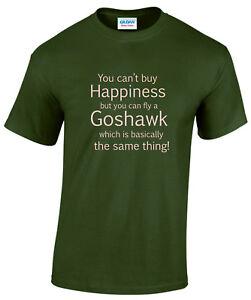 Goshawk Happiness Falconry Tee Shirt