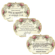 VinTaGe IMaGe FRenCh PerFuMe BoTTLe LaBeLs ShaBby WaTerSLiDe DeCALs