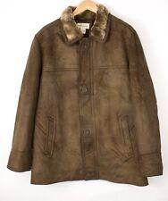PRONTO UOMO Men Faux Fur Casual Jacket Overcoat Size L AVZ1062