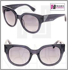 81eaaae1d38 JIMMY CHOO OLA Translucent Grey Crystal Mirrored Square Sunglasses Ola S  Women