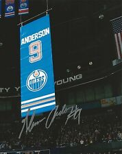 GLENN ANDERSON SIGNED EDMONTON OILERS 8X10 PHOTO BANNER SHOT GRETZKY AUTOGRAPH