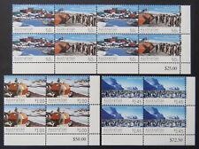 2004 AAT Decimal Stamps - Mawson Station 1954-2004 - Cnr Set of 4x4 - Tabs MNH