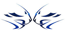 APRILIA Leones Cabeza calcomanías de gráficos de Moto Azul Cromo x 2PCS Grande