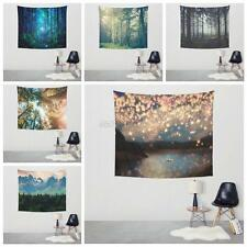 Luxury Nature Scenery Art Tapestry Wall Hanging Boho Forest/Lantern Home Decor