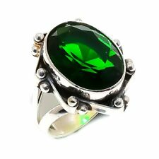 Sterling Silver Ring Size 5.5 Chrome Diopside Gemstone Handmade 925