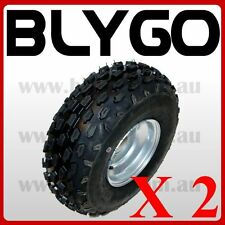 "2X 19x7- 8"" inch Front Wheel Rim+Knobby Tyre Tire 150cc Quad Dirt Bike ATV Buggy"