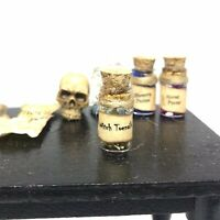 B270 Witchy Jar 1 Pc Halloween Dollhouse Miniature Witch Potion Spell Lab