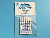 5 Overlock Serger EL/705 Schmetz Nähmaschine Nadeln Flachkolben SUK CF 80-90