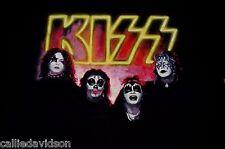 KISS 1974 1st Debut Album Outtake Photo Official T-Shirt 1994 XL Gene Ace