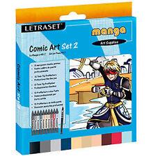 Letraset PROMARKER 10 marcador pluma Arte Comic Set 2 Manga