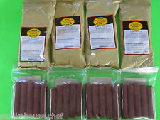 SEASONING and Casings for 100 lbs of Sausage Snack Stick, Pepperoni or Slim Jim