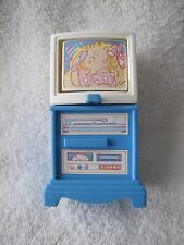 FISHER PRICE Loving Family Dream Dollhouse TV Television Flips to 3 Screens Rare